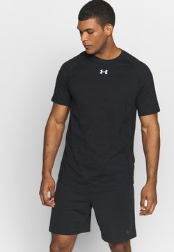 Under Armour - CHARGED - T-Shirt basic - black/white