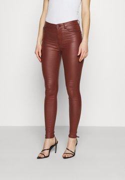 JDY - JDYNEWTHUNDER HIGH - Spodnie materiałowe - cherry mahogany