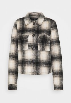 ONLY Tall - ONLLOU SHORT CHECK JACKET - Leichte Jacke - pumice stone