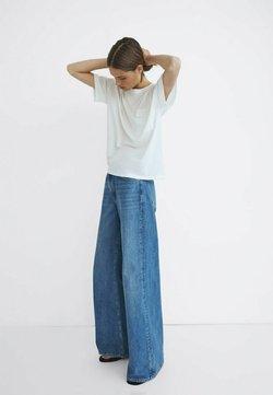 Massimo Dutti - MIT HOHEM BUND UND WEITEM BEIN - Jeans a zampa - dark blue