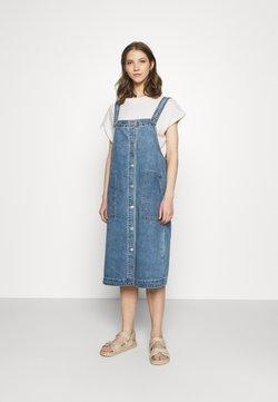 Monki - MARIA DRESS - Farkkumekko - blue medium dusty