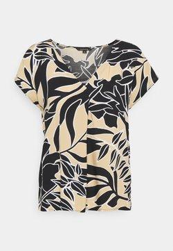 comma - T-shirt con stampa - beige