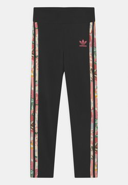 adidas Originals - FLORAL STRIPE - Leggings - Hosen - black/pink