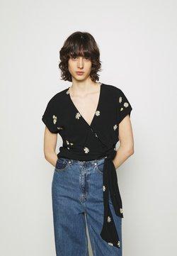 Madewell - ATHENA WRAP - Bluse - true black