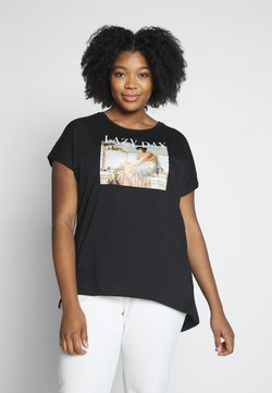 Even&Odd Curvy - T-Shirt print - black/nude