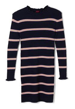 s.Oliver - MIT STREIFENMUSTER - Strickkleid - dark blue stripes