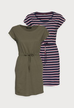 Vero Moda Petite - VMAPRIL SHORT DRESS 2 PACK - Jersey dress - ivy green/navy blazer