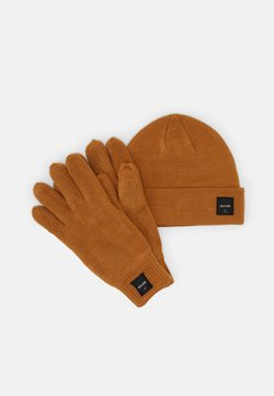 Only & Sons - ONSXBOX GLOVES BEANIE SET - Fingerhandschuh - camel
