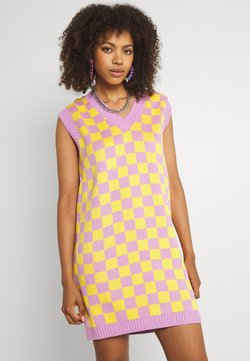 The Ragged Priest - VINYL DRESS - Strickkleid - yellow/lilac