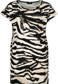 Monari - MIT ALLOVER PRINT IM ZEBRA LOOK - T-Shirt print - black
