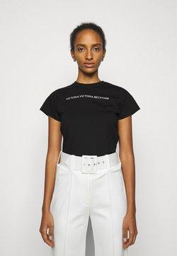 Victoria Victoria Beckham - SLIM FIT LOGO - T-Shirt print - black