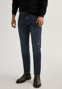 Massimo Dutti - STONE-WASHED IM SLIM-FIT - Jeans Slim Fit - blue