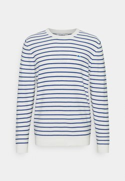 The GoodPeople - KENT - Strickpullover - white/blue