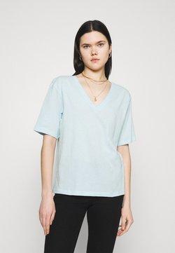 Weekday - LAST VNECK - T-shirt basic - light blue