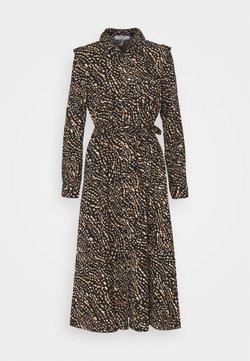 ONLY - ONLRIVANA CALF DRESS - Vestido largo - black/toasted coconut