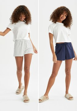 DeFacto - 2 PACK - Shorts - white