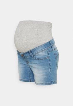 MAMALICIOUS - MLPASO HIGH BACK - Shorts di jeans - light blue denim