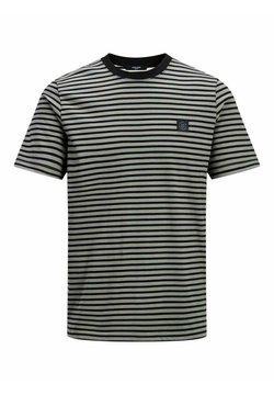 Jack & Jones PREMIUM - GESTREIFTES - T-Shirt print - new sage