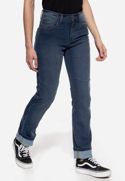 Queen Kerosin - MOTORRAD KUSTOMBUILT - MOTOR GEAR - Jeans Straight Leg - hellblau