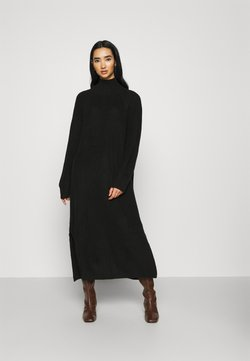 Monki - KEAN DRESS - Gebreide jurk - black dark