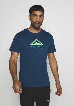 Nike Performance - DRY TEE TRAIL - Camiseta estampada - valerian blue