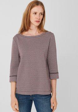 s.Oliver - MIT PIPING - Sweatshirt - blue glen check