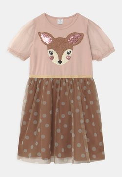 Lindex - MINI RAINDEER DOT  - Sukienka z dżerseju - dusty pink