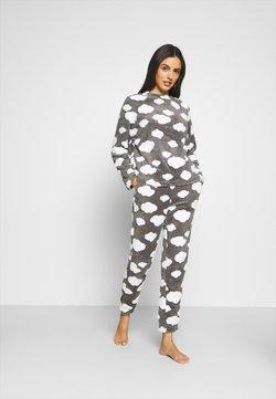 ONLY - ONLCAYA NIGHTWEAR SET - Pyjama - dark grey melange