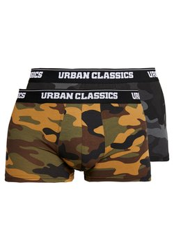 Urban Classics - BOXER 2 PACK - Panties - woodcamo/darkcamo