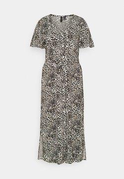 Vero Moda Tall - VMSIMPLY EASY CALF SHIRT DRESS - Blusenkleid - birch/agnes