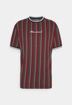 Nominal - FINLEY - T-Shirt print - burgundy