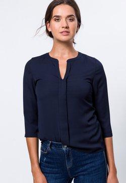 zero - MIT TRANPARENTEN ÄRMELN - Bluse - dark blue