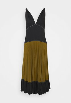 Proenza Schouler White Label - COLORBLOCKED PLEATED DRESS - Day dress - black/military