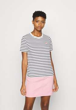 Wood Wood - MIA  - T-Shirt print - off-white/navy stripes