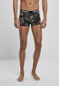 Brandit - 2 PACK - Shorty - woodland/darkcamo