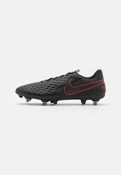 Nike Performance - TIEMPO LEGEND 8 ACADEMY SG-PRO AC - Screw-in stud football boots - black/dark smoke grey/chile red