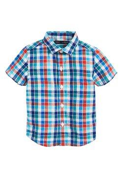 Next - RED SHORT SLEEVE CHECK LINEN MIX SHIRT (3MTHS-7YRS) - Camisa - red