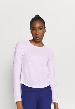 Puma - TRAIN LONG SLEEVE - Langarmshirt - light lavender