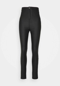 Missguided Tall - COATED VICE SCULPT DETAIL - Jeans Skinny - black
