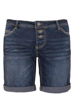 Sublevel - BERMUDA MIT AUFSCHLAG - Jeans Shorts - blue