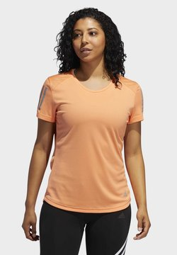 adidas Performance - OWN THE RUN T-SHIRT - Camiseta estampada - orange