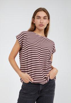 ARMEDANGELS - JAARIN - T-Shirt print - aubergine-kinoko