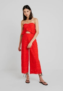 Topshop - BROIDERIE - Combinaison - red