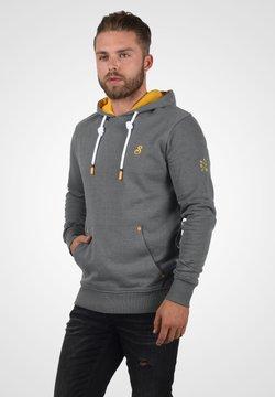 Solid - Bluza z kapturem - grey melange