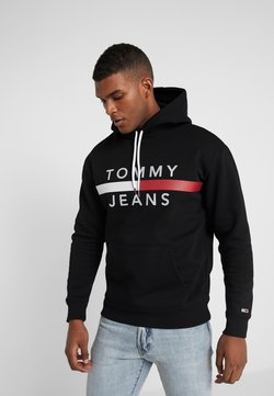 Tommy Jeans - REFLECTIVE FLAG HOODIE - Sweat à capuche - tommy black