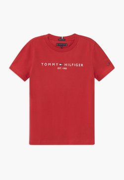 Tommy Hilfiger - ESSENTIAL TEE UNISEX - T-Shirt print - red