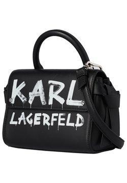 KARL LAGERFELD - Umhängetasche - black/ white