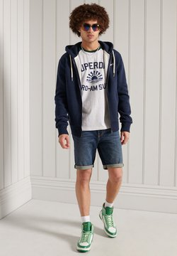 Superdry - CALI SURF GRAPHIC BASEBALL  - T-shirt con stampa - ice marl