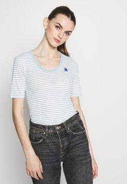 G-Star - SLIM UNECK - T-Shirt print - siali blue