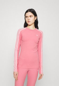 adidas Originals - LONG SLEEVE TEE - Pitkähihainen paita - hazy rose/white